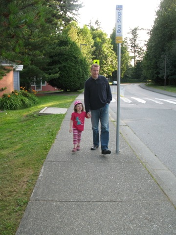 j and daddy strolling