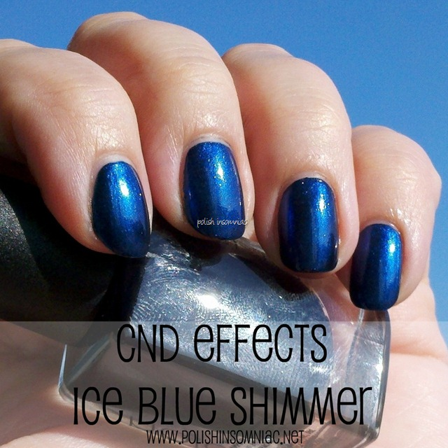 CND Effects Ice Blue Shimmer over CND Inkwell