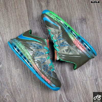 nike lebron 10 low gr black turquoise blue 3 02 Nike Air Max LeBron X Low Swamp Thing Release Date