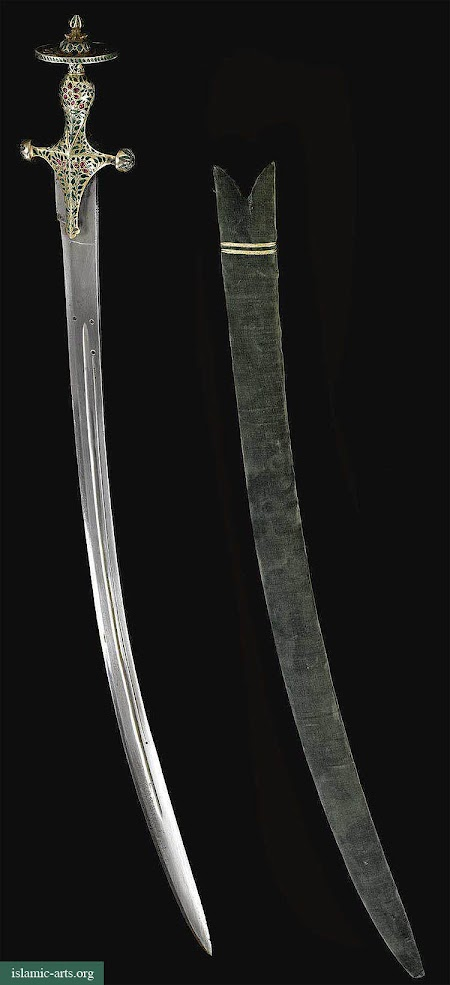 A JEWELLED SWORD TALWAR, RAJASTHAN, INDIA,