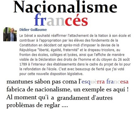 Nacionalisme francés expression d'esquèrra