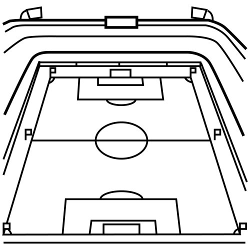 Dibujos de canchas de futbol para colorear - Imagui