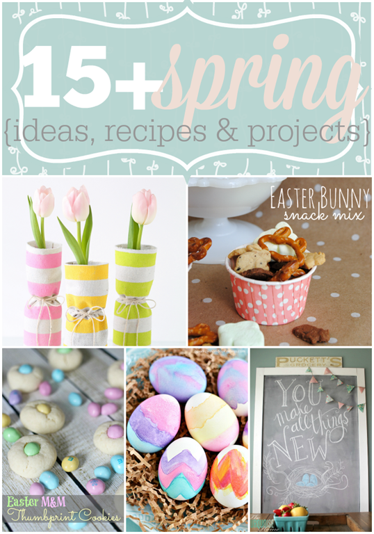 Over 15 Spring Ideas, Recipes & Projects featured at GingerSnapCrafts.com #linkparty #features #spring_thumb[5]