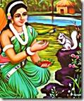 Sita Devi in the forest