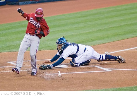 'Justin Upton evades the tag by Josh Bard' photo (c) 2007, SD Dirk - license: http://creativecommons.org/licenses/by/2.0/