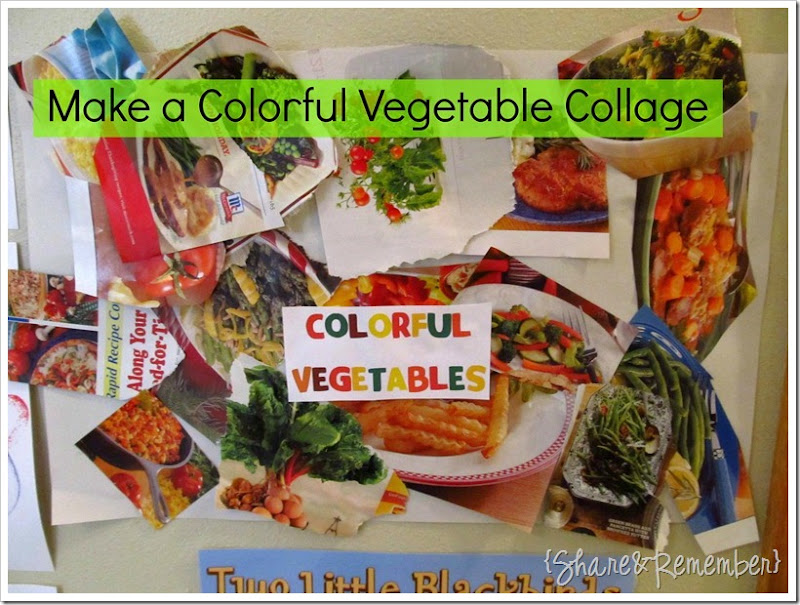 Preschool Nutrition Activity Vegetable Collage Art