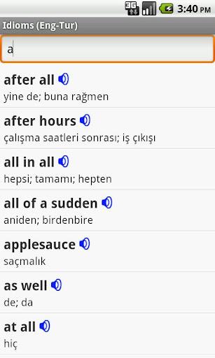 English-Turkish Idioms