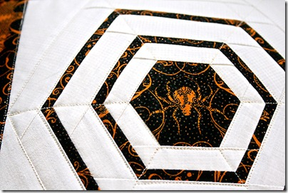 4 log cabin hexagon spiderweb