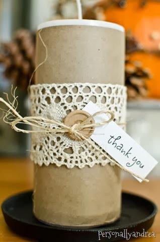 Pillar Candle Gift 3 Ways | personallyandrea.com