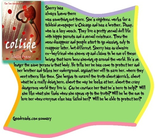 Goodreads summary box for Collide