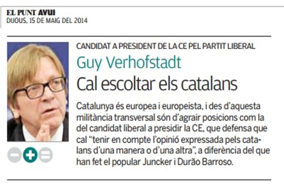 Guy Verhofstadt en campanha electorala 2014
