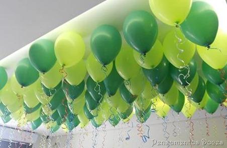 balões teto colados
