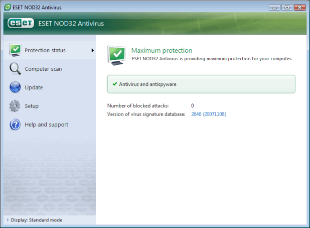 Esset NOD 32 Anti-Virus Free 6 Months Download