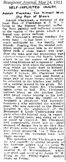 AFleckman-1911-05-14Paper-Beaumont Journal