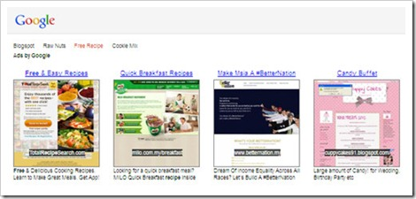 adsense link unit ad preview thumbnail