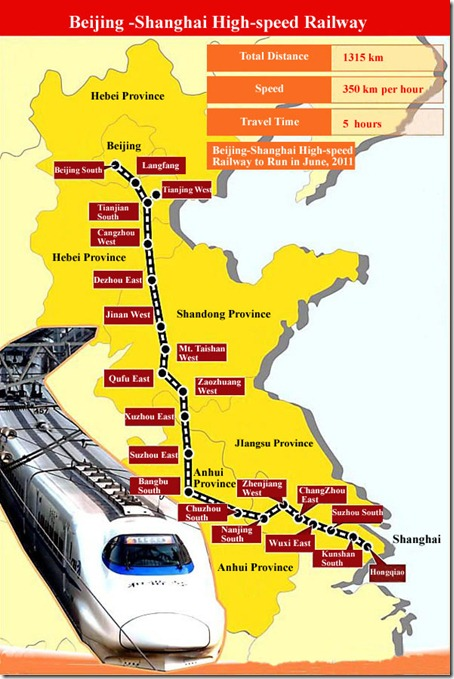 Beijing–Shanghai High-Speed Railway Map