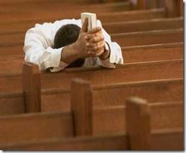 orando sozinho