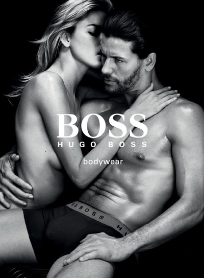 Joshua Button + Martha Hunt  by Christian Anwander for Hugo Boss Black Bodywear, 2011