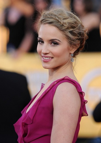 Dianna Agron Dangling Diamond Earrings at 18th Annual SAG Awards