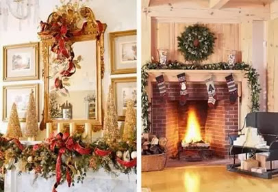 christmas-decorations-ideas MIRROR SPRAY GOLD TO USE
