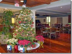 Christmas decorations at LazyDays Crown Club