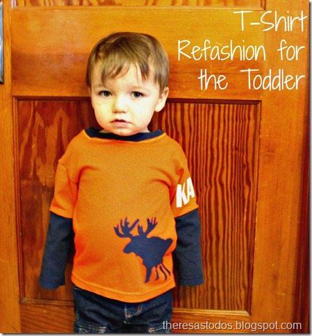 T-Shirt Refashion for the Toddler