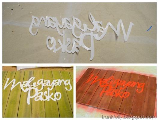 Maligayang Pasko reverse stencil