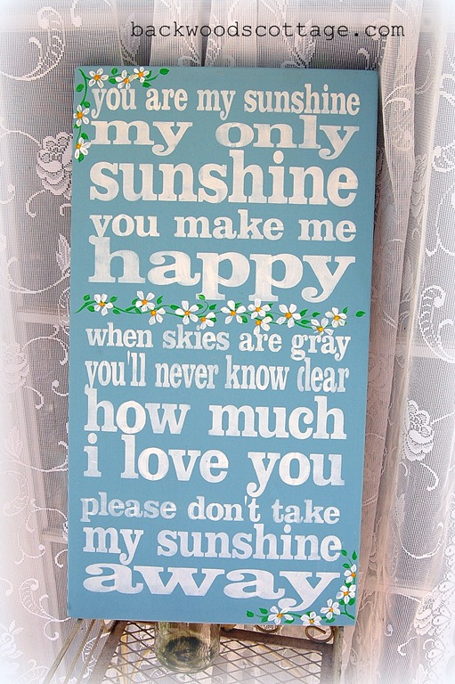 your are my sunshine sign