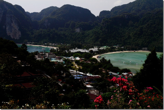 View of Loh Dalum Bay and Ton Sai Bay from Ko Phi Phi view point 1