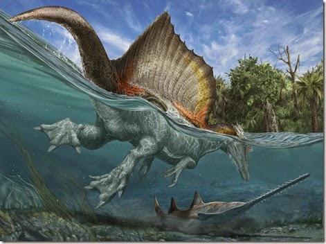 Spinosaurus, dinosaurio acuatico, dinos mortales, dinosaurios temibles, asesinos