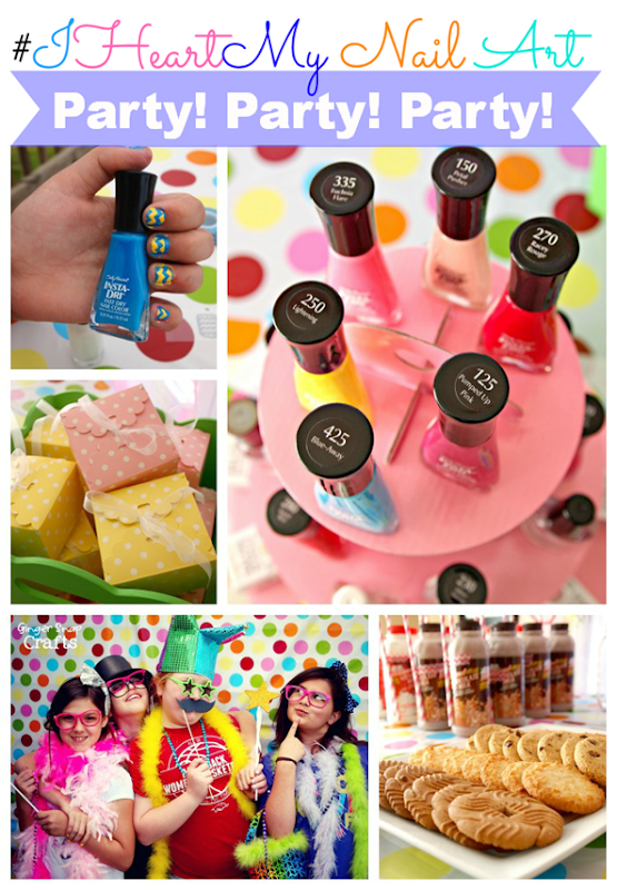 Our HUGE Sally Hansen #IHeartMyNailArt party at GingerSnapCrafts.com #cbias #ad
