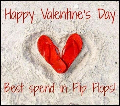 flip flop heart