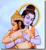 [Rama embracing Hanuman]