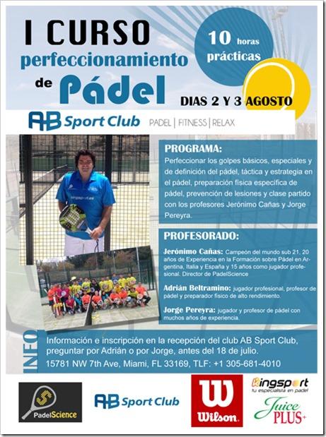 PadelScience se desplaza a Miami a impartir el I Curso de Perfeccionamiento en Pádel en el Club AB SPORT.