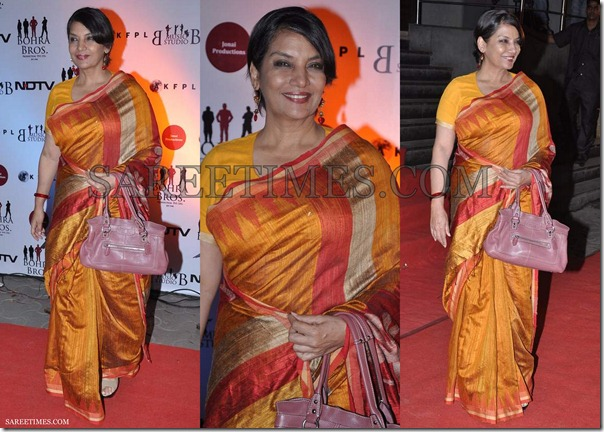 Shabana_Azmi_Gold_Silk_Saree