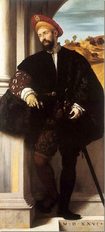 Moretto da Breschia, Gentilhomme en pied