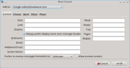 sincronizzare i contatti di Gmail con Thunderbird