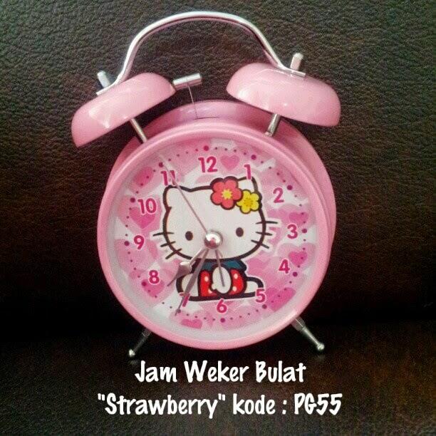 Jam Weker Hello Kitty Murah Grosir Ecer Bulat Motif