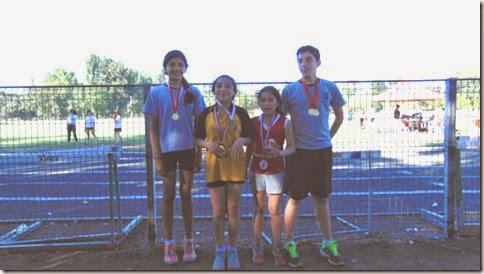 Cuatro Altetas Parralinos 10 Medallas