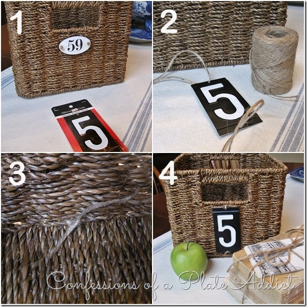 CONFESSIONS OF A PLATE ADDICT Pottery Barn Inspired Numbered Baskets Instructions