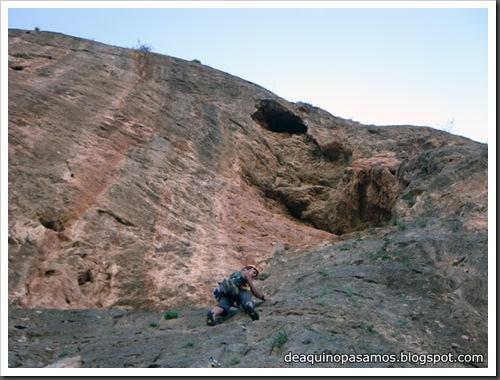 Via Todos los Santos 150m 6a  (La Pancha, Redovan) (Isra) 0273
