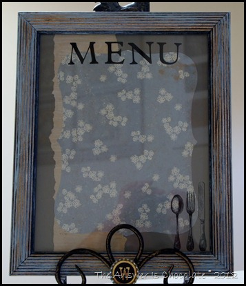 Dry Erase Menu Board