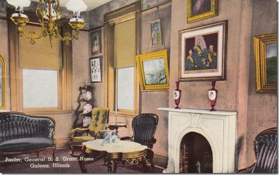 Parlor, General U.S. Grant Home - Galena, Illinois Vintage Postcard pg. 1