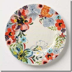 Sissinghurst Anthropologie Plate