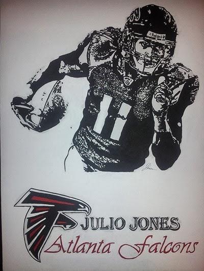 Julio Jones Jessica Riddell