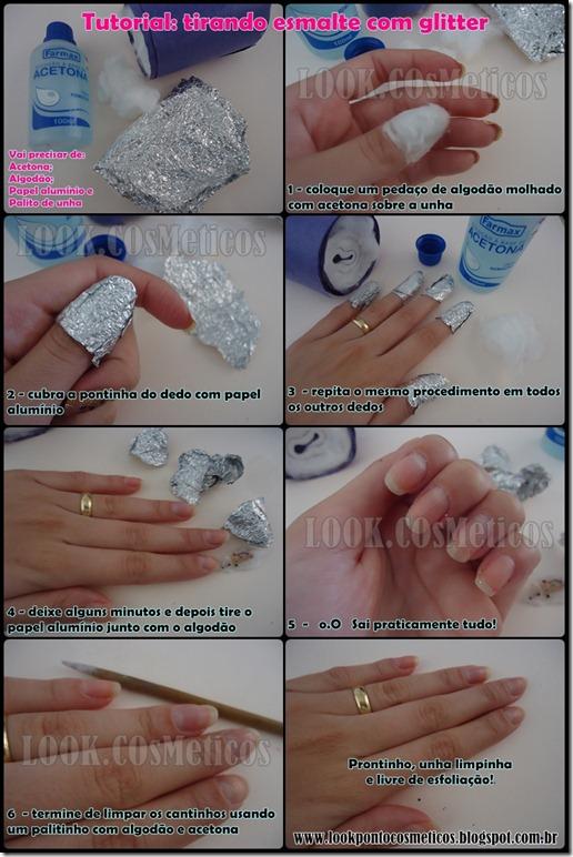 tutorial esmalte com glitter