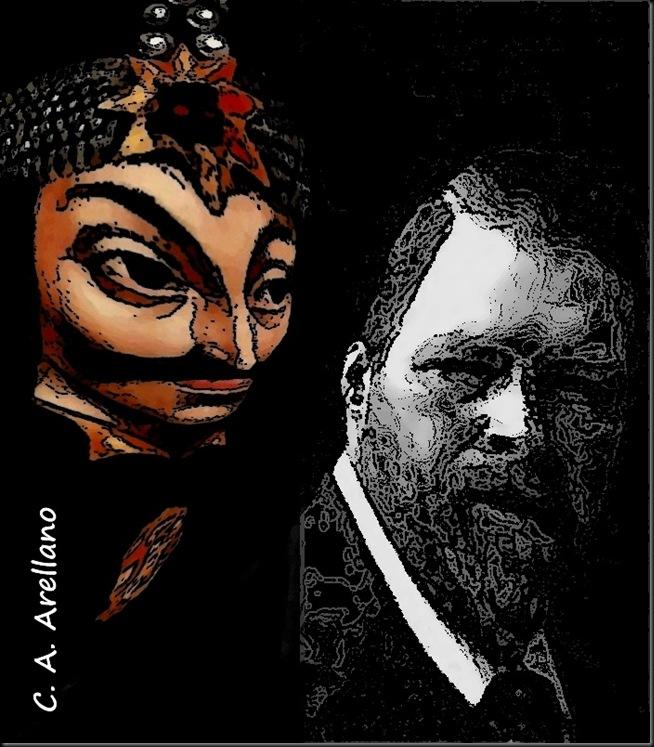 Bram-Stoker-y-Vlad-Tepes-ilustración-de-Carlos-Alberto-Arellano