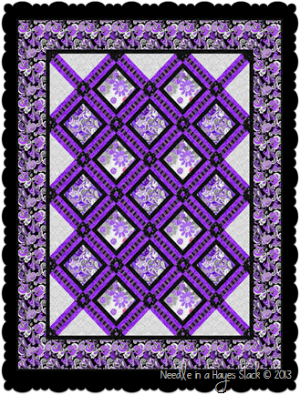 Amethyst on Black with frame