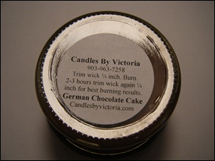 Candles By Victoria - German Chocolate Cake