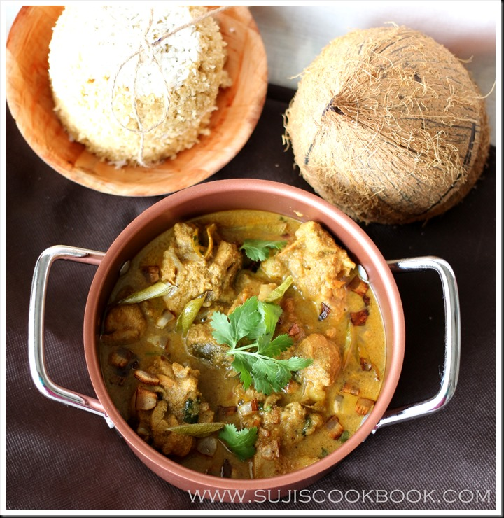 Chicken curry in roasted coconut gravy